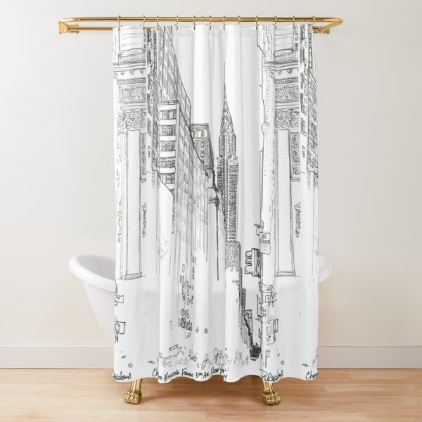 New York City Chrysler Building street picture Shower Curtain