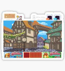 Town View - Cute Monsters RPG - Pixel Art Sticker