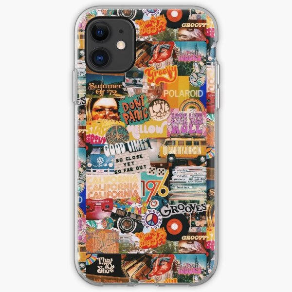 70s vintage vibe collage iPhone Soft Case