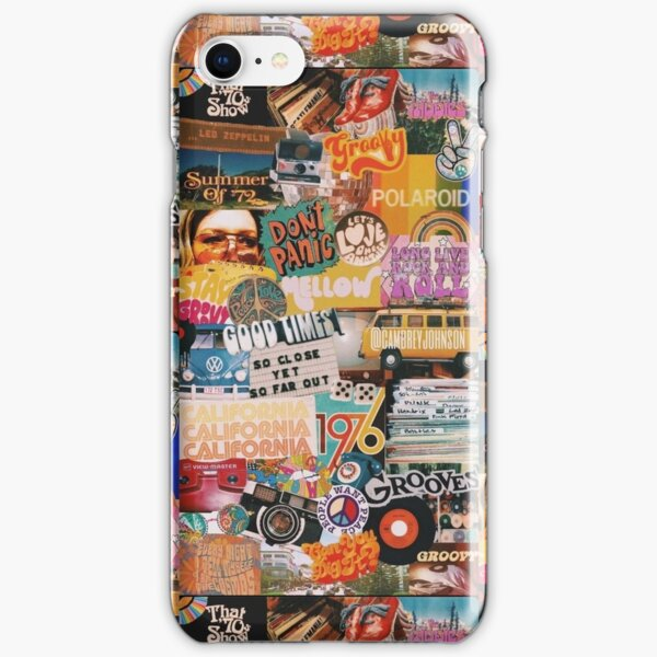 70s vintage vibe collage iPhone Snap Case