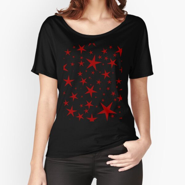 NDVH Stars (red on black) Relaxed Fit T-Shirt
