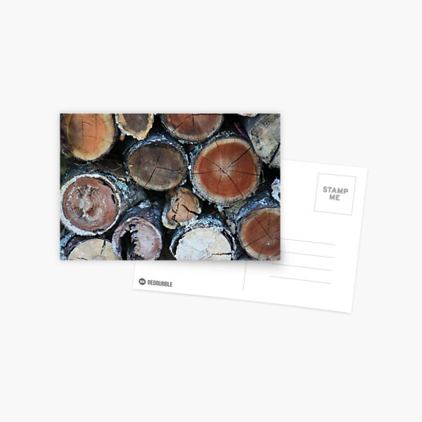 Firewood Patterns Postcard