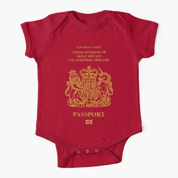 NDVH EU UK Passport Short Sleeve Baby One-Piece