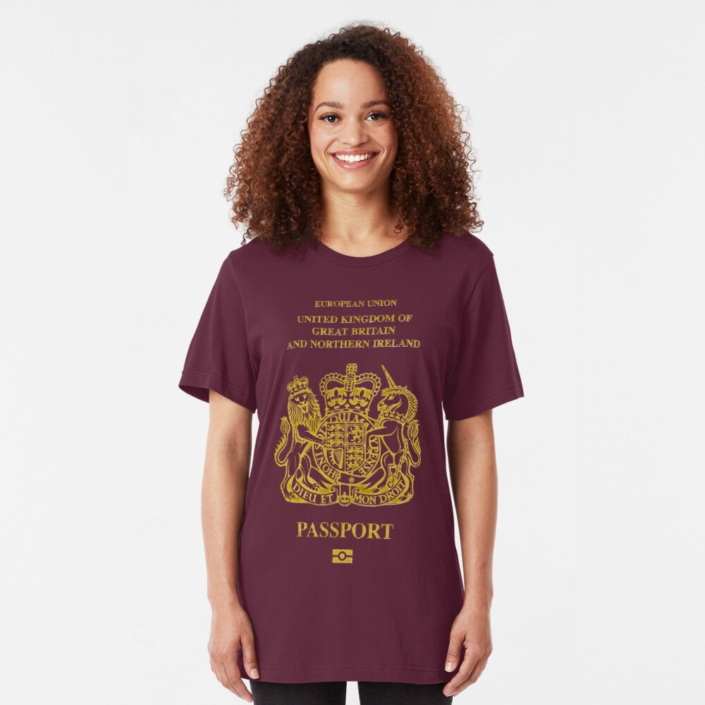 NDVH EU UK Passport Slim Fit T-Shirt