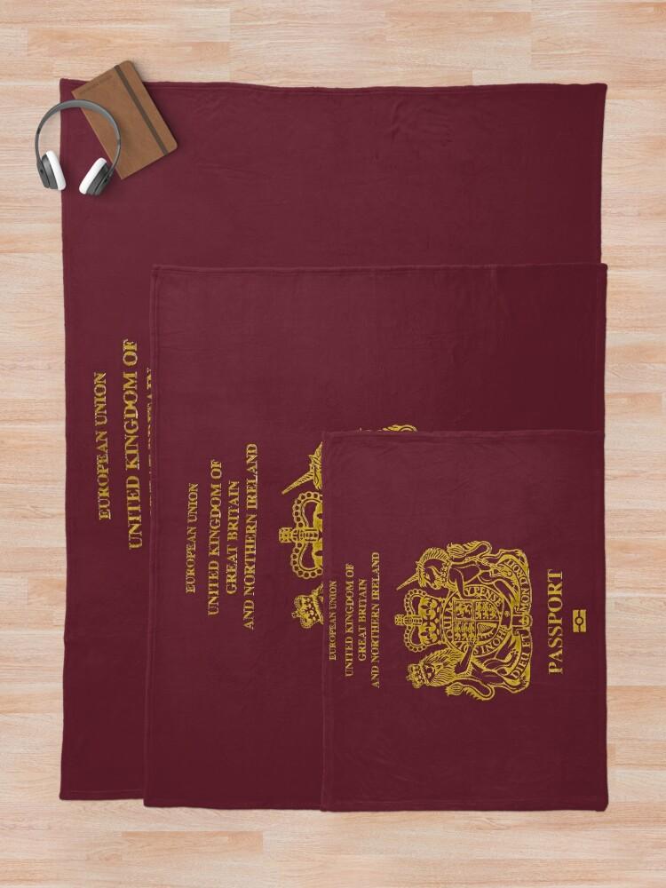 Alternate view of NDVH EU UK Passport Throw Blanket
