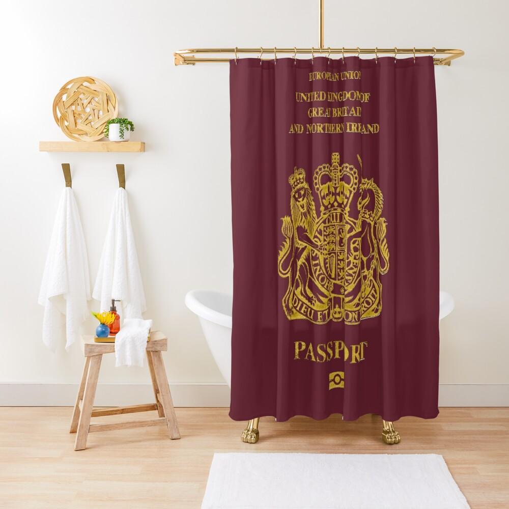 NDVH EU UK Passport Shower Curtain