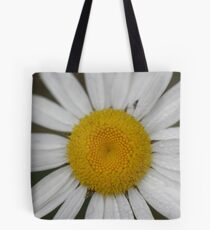 Dew Covered Daisy Center Tote Bag
