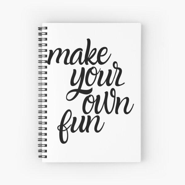 Make Your Own Fun Spiral Notebook