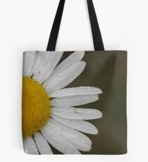 Dew Covered Daisy Edge Tote Bag