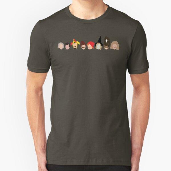 NDVH Rentaghost characters Slim Fit T-Shirt