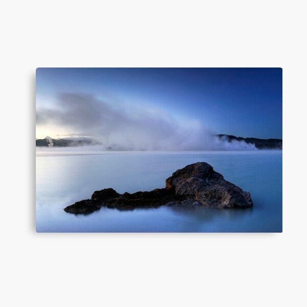 Blue Steamy Dawn Canvas Print