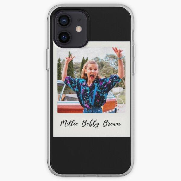 polaroïd brun millie bobby Coque souple iPhone