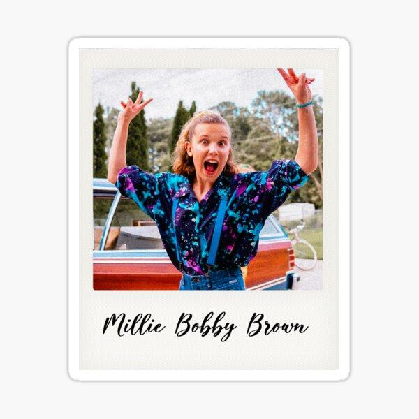 millie bobby brown polaroid Sticker