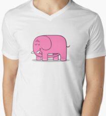Elephellatio PINK Men's V-Neck T-Shirt
