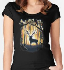 Deer God Master of the Forest Women's Fitted Scoop T-Shirt