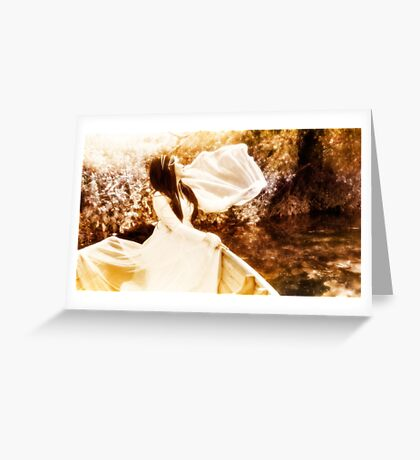 Bride on the Stour III - Wave Greeting Card