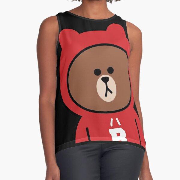 Sudadera con capucha linda del oso pardo Blusa sin mangas