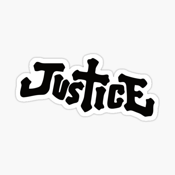 Justice French Electronic Music Band Sticker