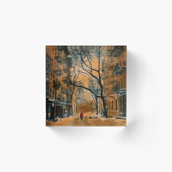 Amaretto Snow Day Acrylic Block