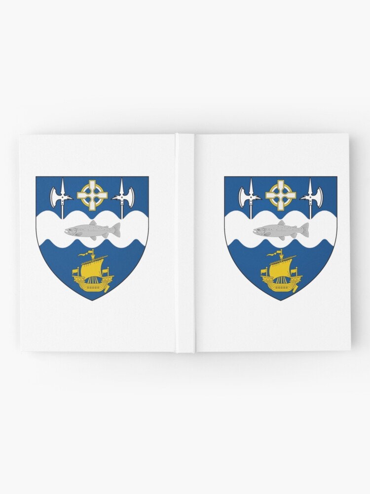 Alternate view of Coat of Arms of Ballina, Ireland Hardcover Journal