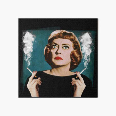 Bette Smoking Art Board Print
