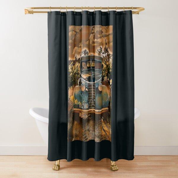 Amaretto Back Road Shower Curtain