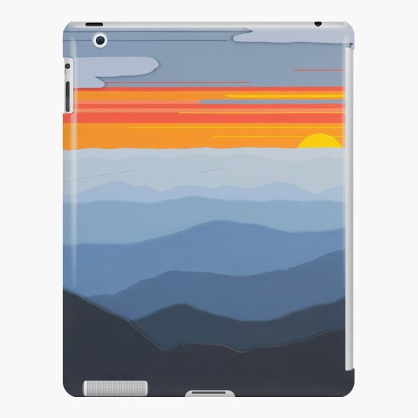 """""""Blue Ridge Sunset with Clouds"""" 122 iPad Snap Case"""