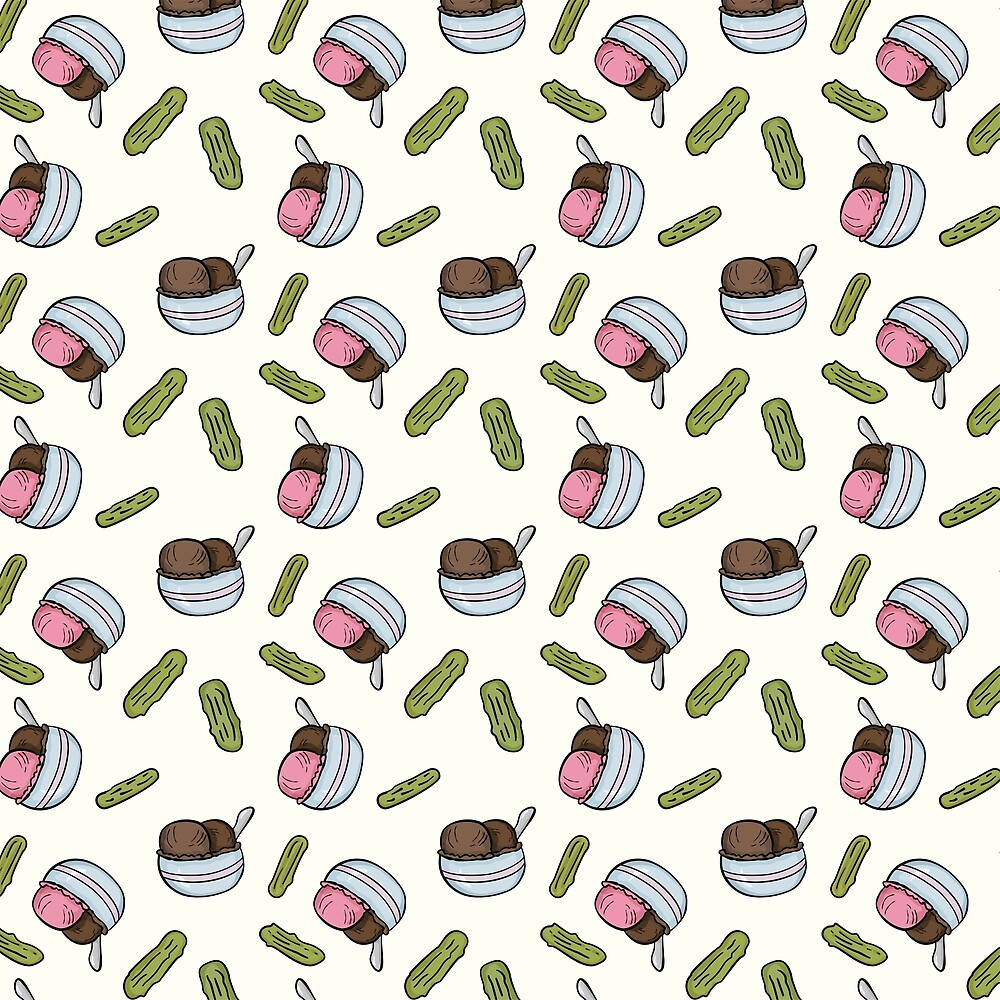 Ice Cream and Pickles [Pattern] by Brent Pruitt