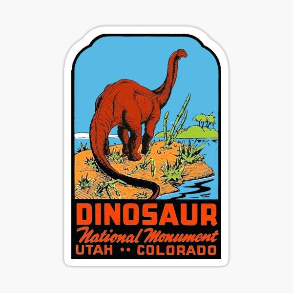 Dinosaur National Monument Utah Colorado Vintage Travel Decal Sticker