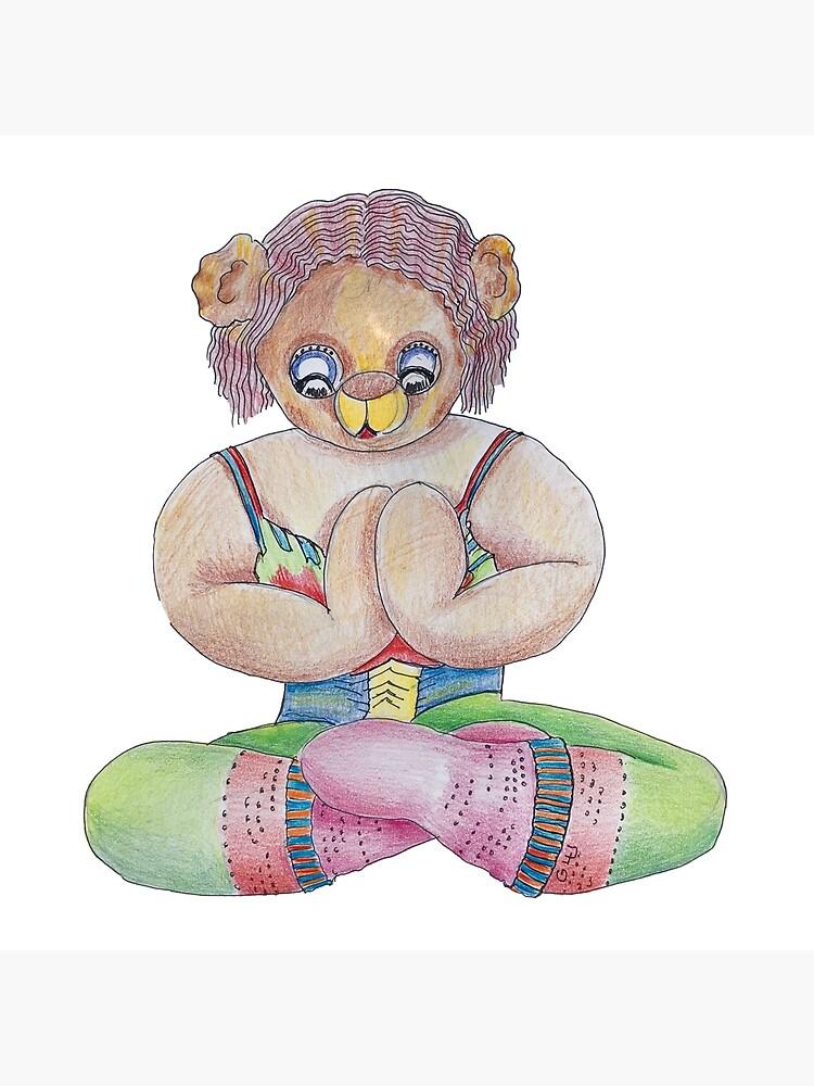 Yoga Bear  by GalleryGiselle