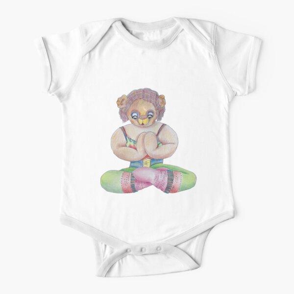 Yoga Bear  Short Sleeve Baby One-Piece