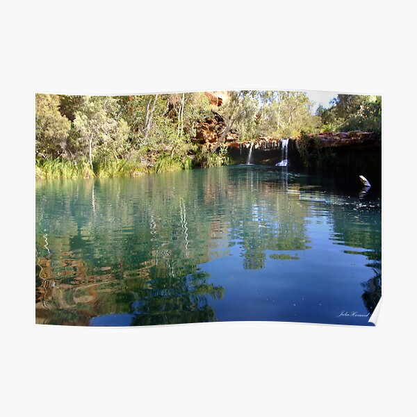 Fern Pool Waterfall, Karijini Poster