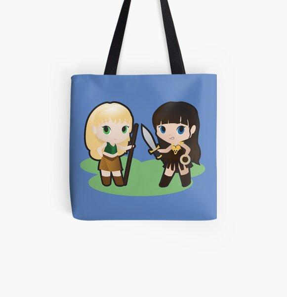 Geek Babies: Xena & Gabrielle All Over Print Tote Bag