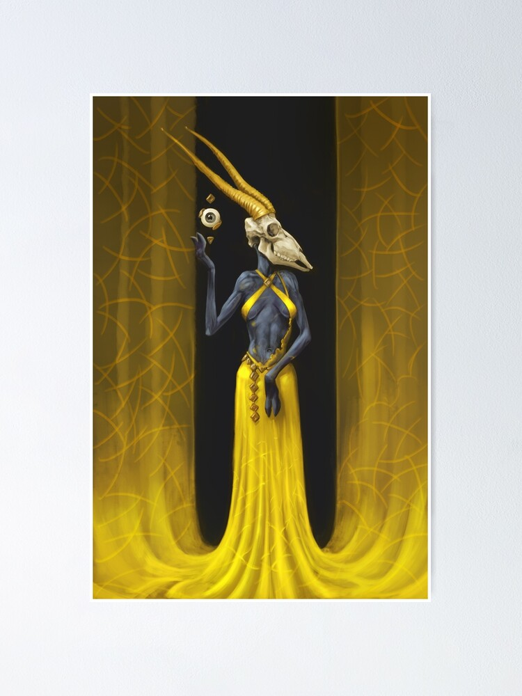 Alternate view of Hathorn   Digital Illustration Poster