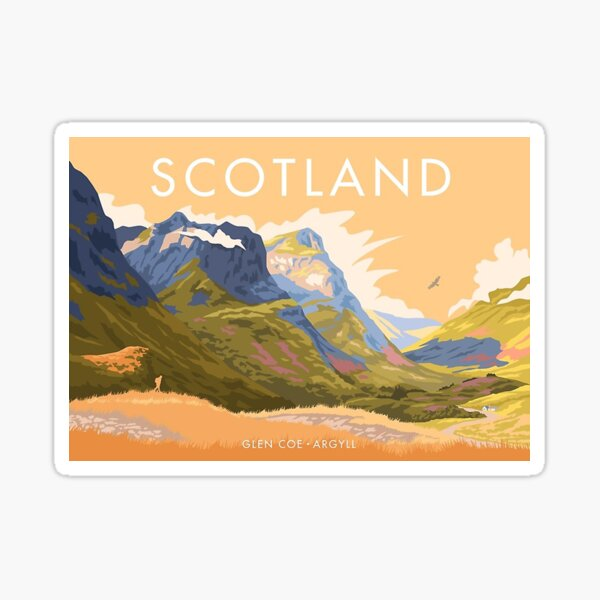 Glen Coe, Scotland     Sticker