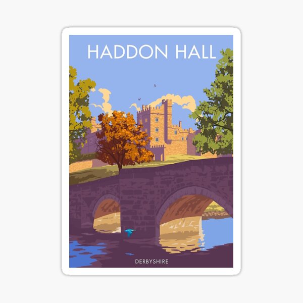 Haddon Hall, Derbyshire     Sticker