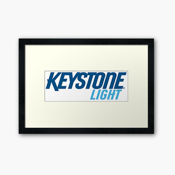 Keystone Light Framed Art Print