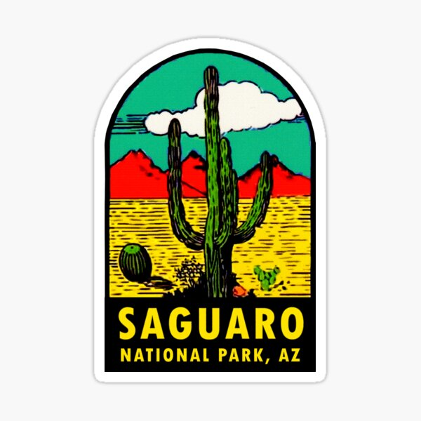 Saguaro National Park Arizona Vintage Travel Decal Sticker