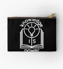 knowledge is power  Zipper Pouch