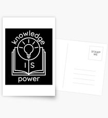 knowledge is power  Postcards