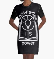 knowledge is power  Graphic T-Shirt Dress