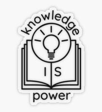 knowledge is power  Transparent Sticker