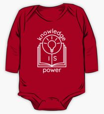 knowledge is power  Long Sleeve Baby One-Piece