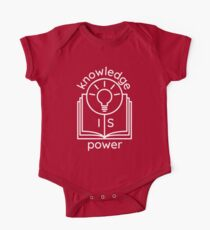 knowledge is power  Short Sleeve Baby One-Piece