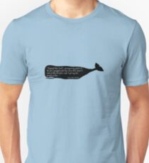 Black whale moby dick quote geek funny nerd T-Shirt