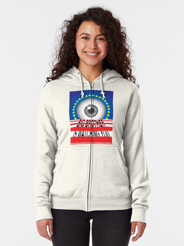 Alternate view of Big Brother Zipped Hoodie