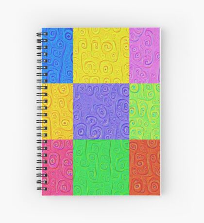 Deep Dreaming of a Color World 2K 2 Spiral Notebook