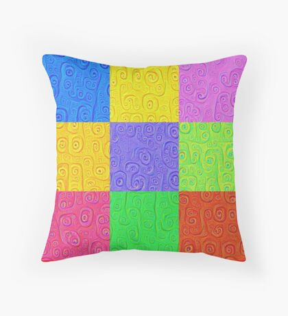 Deep Dreaming of a Color World 2K 2 Throw Pillow