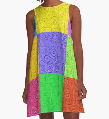 Deep Dreaming of a Color World 2K 2 A-Line Dress