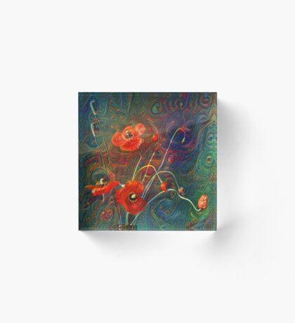 Poppies Acrylic Block